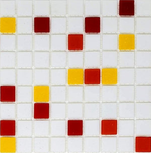 Brio Glass Mosaic Tile | Campfire Blend