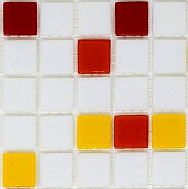 Sample of Brio Glass Mosaic Tile | Campfire Blend