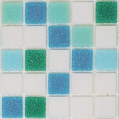 Sample of Brio Glass Mosaic Tile | Fresh Blend