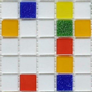 Sample of Brio Confetti Blend  - Glass Mosaic Tile