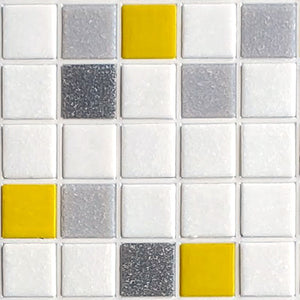 Sample of Brio Blend City Sunshine - Glass Mosaic Tile