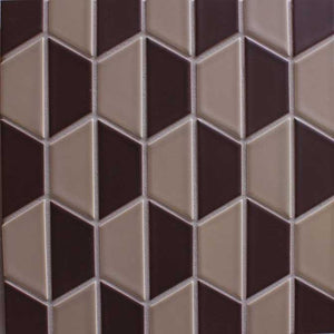 Modwalls Clayhaus Ceramic Mosaic Half Hex Pattern A Tile | 103 Colors | Modern tile for backsplashes, kitchens, bathrooms and showers