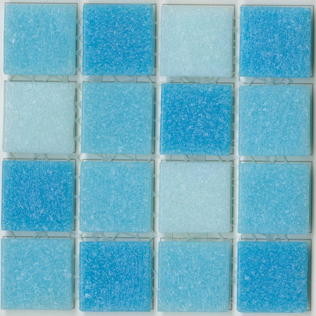 Sample of Brio Blend Morningside- Blue Glass Mosaic Tile