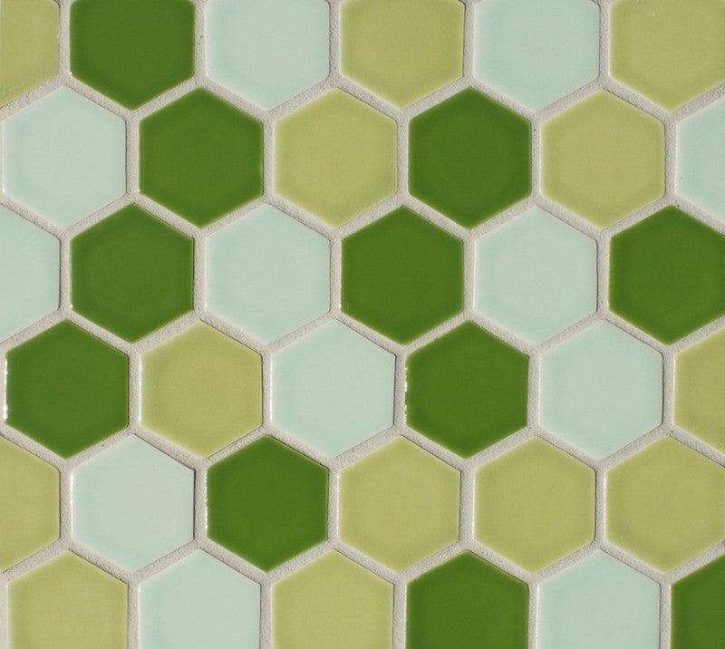 "Sample of Clayhaus Mosaic Hexagon 2"" Ceramic Tile"