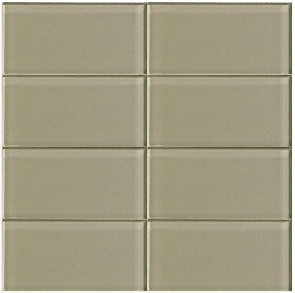 Modwalls Lush Glass Subway Tile | Driftwood 3x6 | Modern tile for backsplashes, kitchens, bathrooms, showers