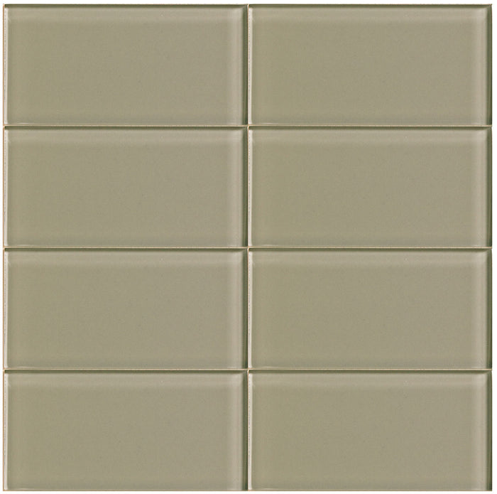 Lush Glass Subway Tile | Driftwood 3x6