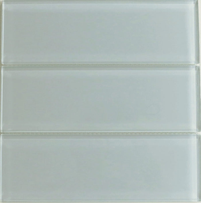 Lush Glass Subway Tile | Fog Bank 4x12