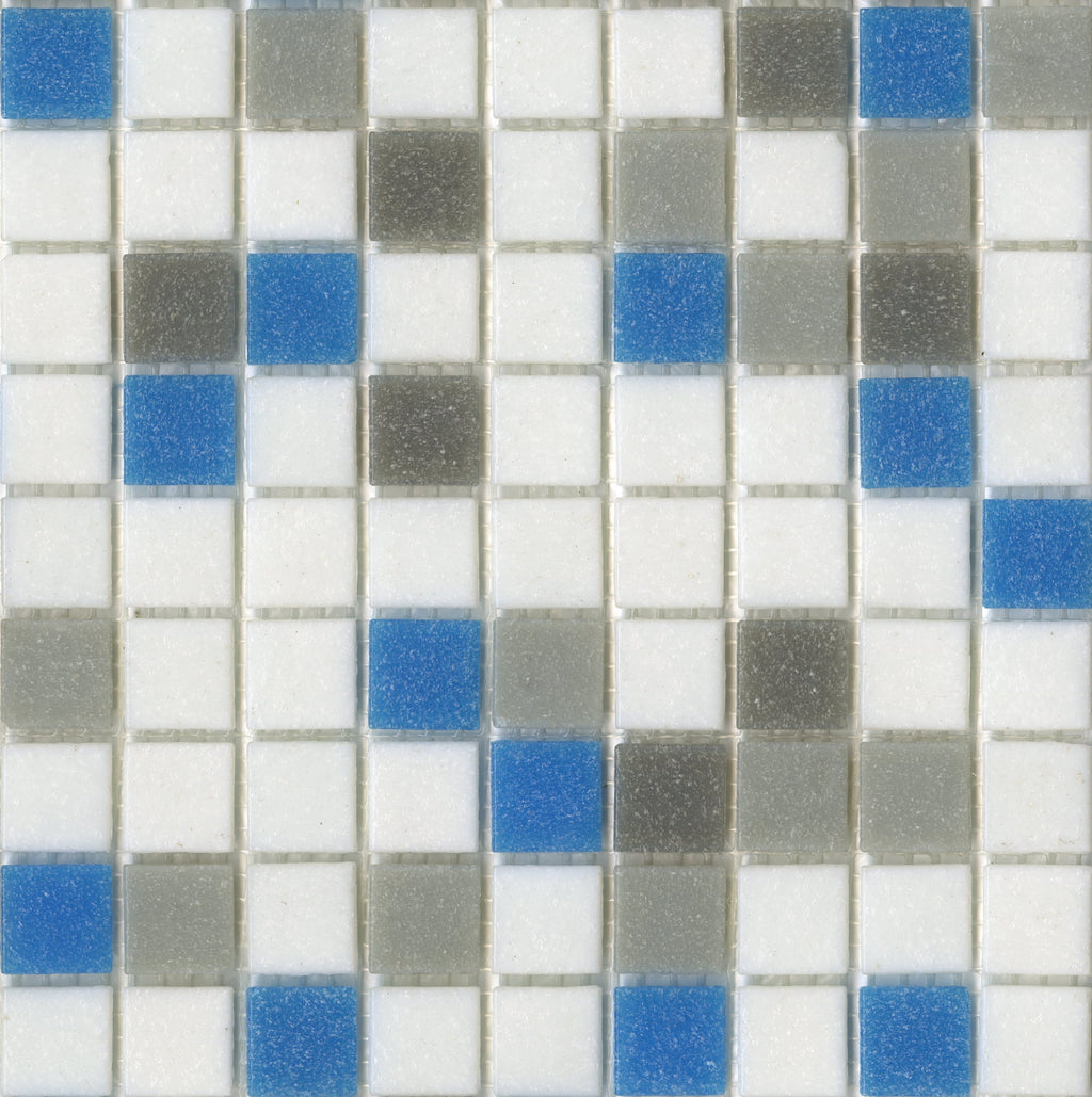 Modwalls Brio Glass Mosaic Tile | Urban Sky Blend | Modern tile for backsplashes, kitchens, bathrooms, showers, pools, outdoor and floors