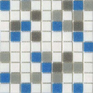 Modwalls Brio Glass Mosaic Tile | Urban Sky Blend