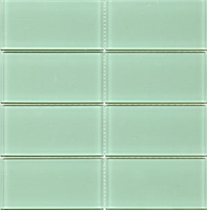 Modwalls Lush Glass Subway Tile | Surf 3x6