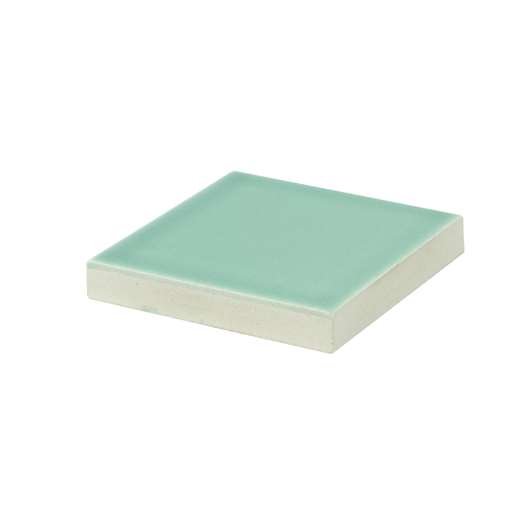 Modwalls Sample Kiln/Clayhaus Ceramic Collections Color Chip | Opaline Blue/Green