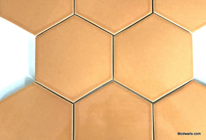 "Modwalls Basis Hexagon 6"" Ceramic Floor Tile 
