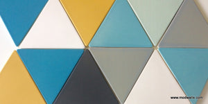 "Modwalls Basis Triangle 8"" Ceramic Tile 