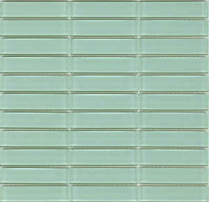 Modwalls Lush Glass Subway Tile | Surf 1x4 | Modern tile for backsplashes, kitchens, bathrooms, showers