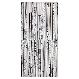 Modwalls Rex Ray Studio Newsprint Glass Tile | White | Modern tile for backsplashes, kitchens, bathrooms, showers, pools and outdoor