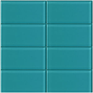 Modwalls Lush Glass Subway Tile | Peacock 3x6