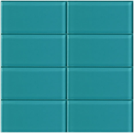 Lush Glass Subway Tile | Peacock 3x6
