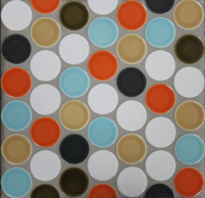 "Modwalls Clayhaus Ceramic Mosaic Circle Offset 2"" Tile 