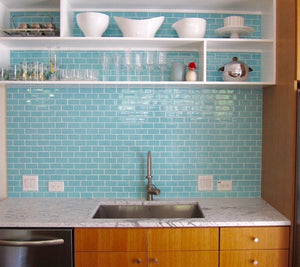 Modwalls Clayhaus Ceramic Mosaic 2x4 Offset Tile | 103 Colors | Modern tile for backsplashes, kitchens, bathrooms and showers