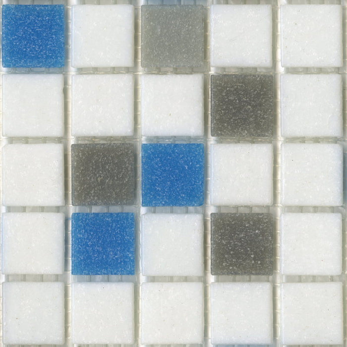 Sample of Brio Glass Mosaic Tile | Urban Sky Blend