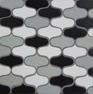 "Modwalls Clayhaus Ceramic Mosaic Ogee 3"" Tile 
