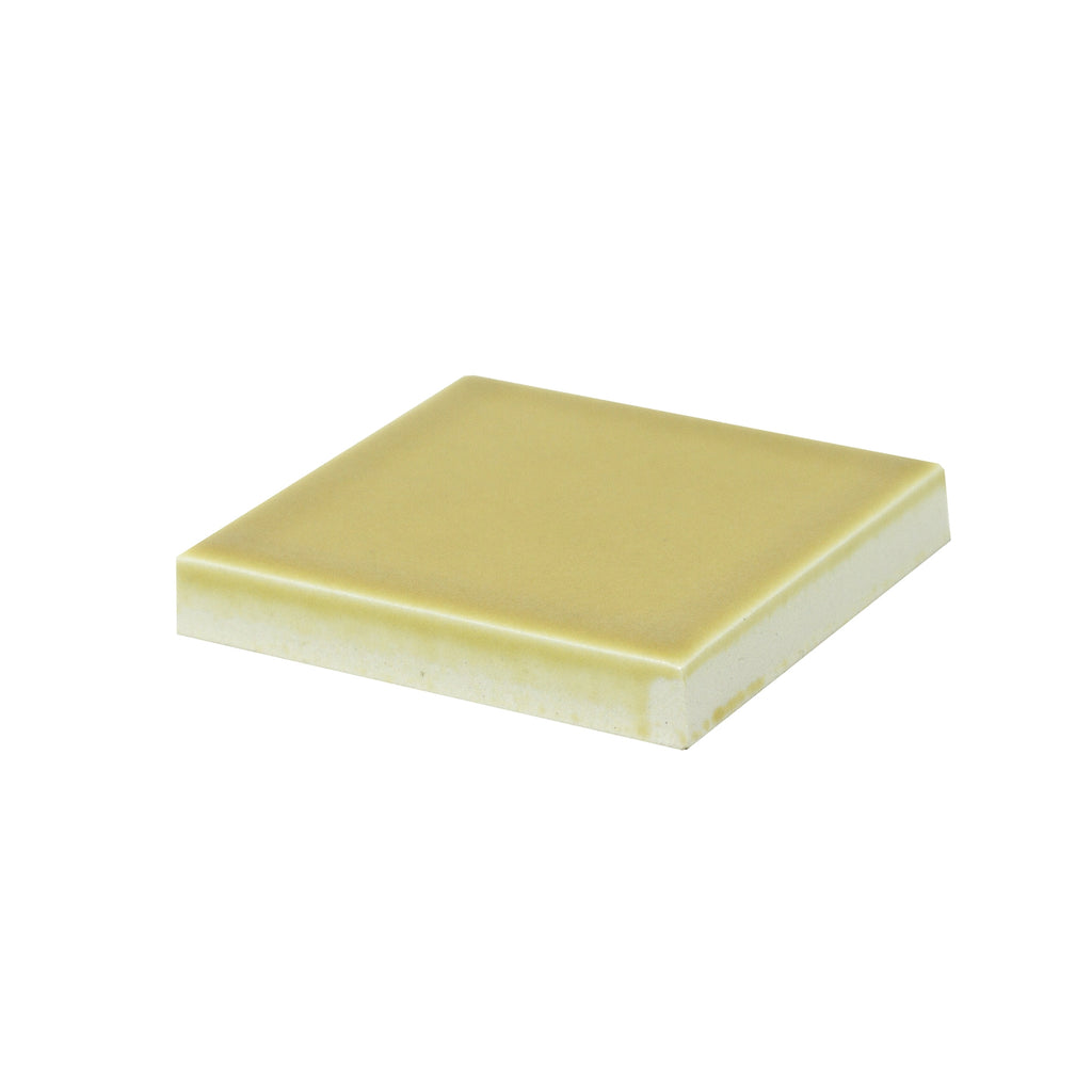 Modwalls Sample Kiln/Clayhaus Ceramic Collections Color Chip | Honeycomb Matte Yellow