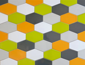 Modwalls Kiln Ceramic Stretch Hex Tile | 103 Colors | Modern tile for backsplashes, kitchens, bathrooms and showers