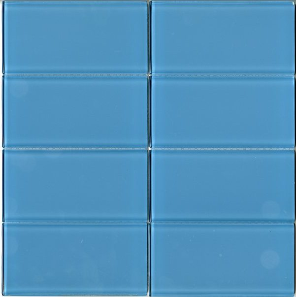 Modwalls Lush Glass Subway Tile | Sky 3x6