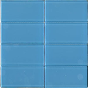 Modwalls Lush Glass Subway Tile | Sky 3x6 | Modern tile for backsplashes, kitchens, bathrooms, showers