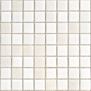 Modwalls Brio Glass Mosaic Tile | White Linen Blend