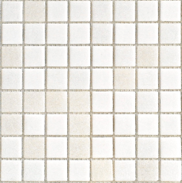 Brio Glass Mosaic Tile | White Linen Blend