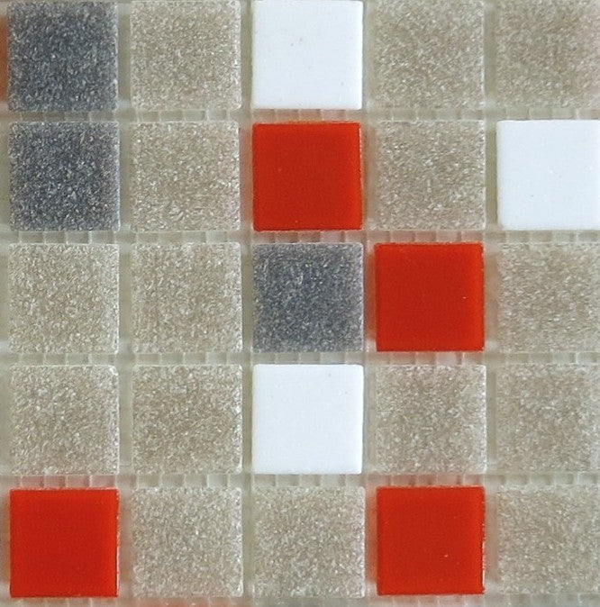 Sample of Brio Glass Mosaic Tile | Midcentury Blend