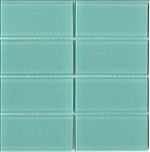 Modwalls Lush Glass Subway Tile | Pool 3x6 | Modern tile for backsplashes, kitchens, bathrooms, showers