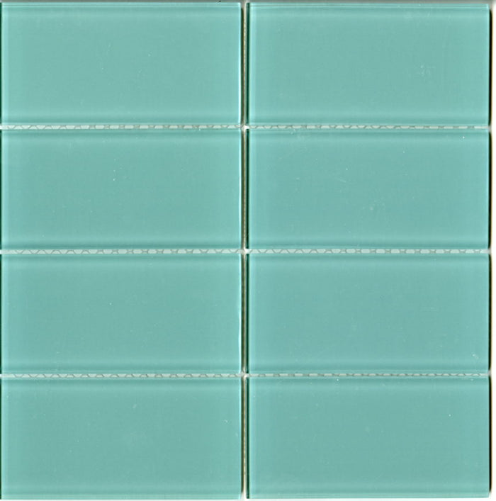 Lush Glass Subway Tile | Pool 3x6