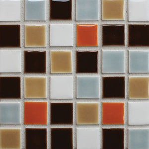 Modwalls Clayhaus Ceramic Mosaic Square Stacked 1x1 Tile | 103 Colors