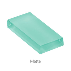 Modwalls Lush Custom Glass Subway Tile | Aqua Green | Modern tile for backsplashes, kitchens, bathrooms, showers