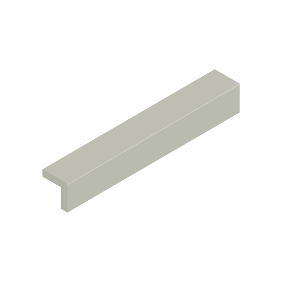 Basis Ceramic Right Angle Trim Tile