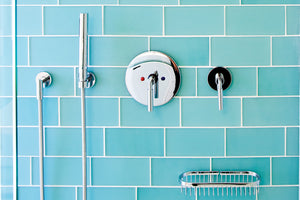 Oasis Glass Tile | Brick | Seafoam