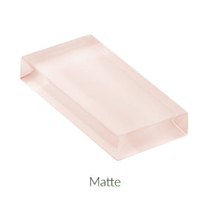 Modwalls Lush Custom Glass Subway Tile | Blush | Modern tile for backsplashes, kitchens, bathrooms, showers