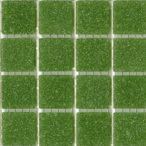 Sample of Brio Mosaic Glass Tile Cilantro | Modwalls Designer Tile