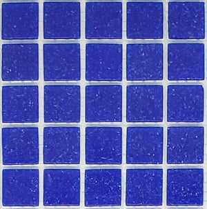 Sample of Brio Cobalt  - Glass Mosaic Tile