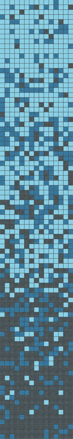 Brio Glass Mosaic Tile |  Brio Gradient Blend Blues