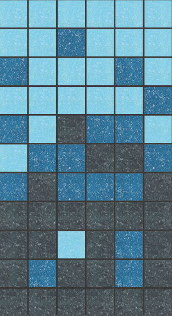 Sample of Brio Glass Mosaic Tile | Nautical Gradient