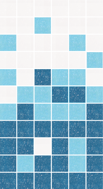 Sample of Brio Glass Mosaic Tile | Arctic Gradient