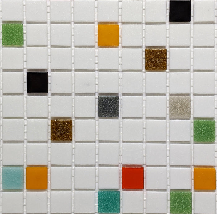 Brio Glass Mosaic Tile | Atomic Blend