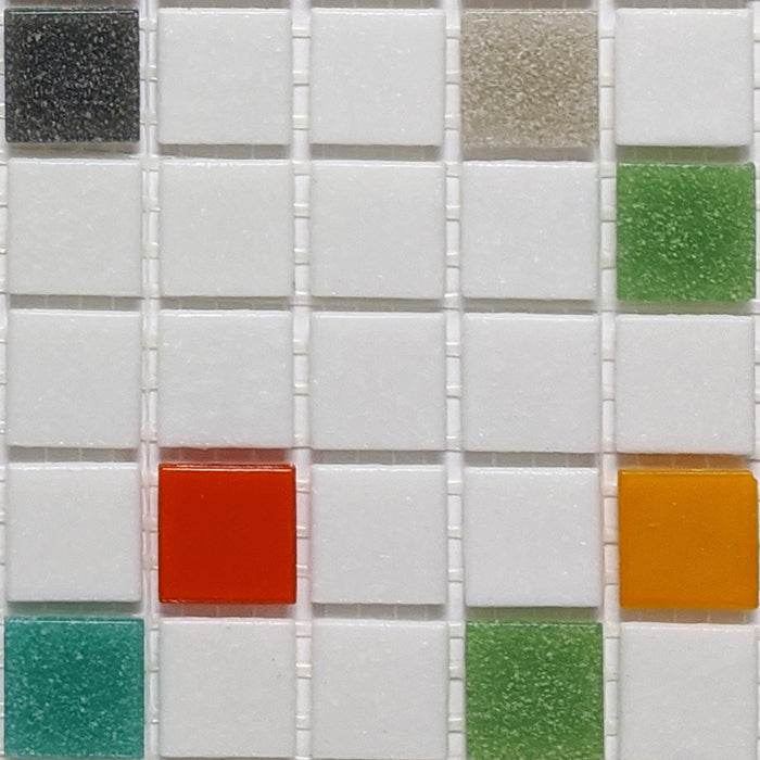 Sample of Brio Glass Mosaic Tile | Atomic Blend