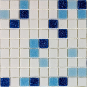 Brio Glass Mosaic Tile |  Baja Blend