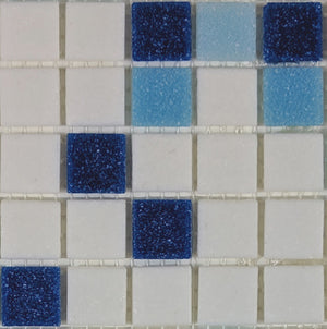 Sample of Brio Baja Blend  - Glass Mosaic Tile
