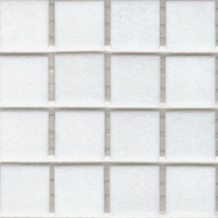 Sample of Brio Glass Mosaic Tile | Bright White