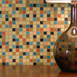 Modwalls Brio Custom Blend Glass Mosaic Tile | Modern tile for, backsplashes, kitchens, bathrooms, showers, pools, outdoor and floors
